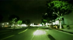 Projection of  a road for vehicle in motion. Vintage Effect rear-projection Stock Footage