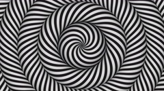 Stock Video Footage of hypnotic background with black  and white concentric circles in motion