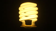 Opening electric lamp Stock Footage