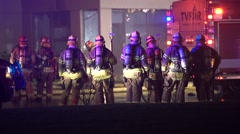 Group Of Firefighters Stock Footage