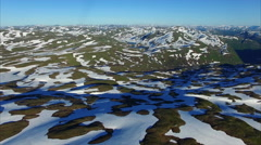 Aerial footage of landscape in Norway Stock Footage