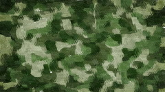 Oil painted khaki camouflage background Stock Footage