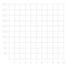 Single quadrant cartesian grid - stock illustration
