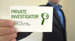 Private investigator Show Business Card - stock footage