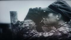 Waffen SS Panzergrenadiers in combat World War 2 1080p scaled newsreel Stock Footage
