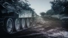 Panzer Assault: World War 2 1080p scaled newsreel footage of German heavy tanks - stock footage