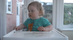 1 Candle For First Birthday  - stock footage