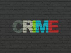 Safety concept: Crime on wall background - stock illustration