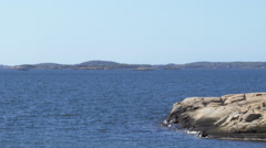 Gothenburg Archipelago Rocky Islands - Blue Sky Nature Stock Footage