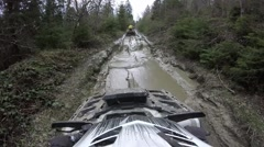 ATV Ride  on Mountain roads, Rocks and Dirt - GoPro cam Stock Footage