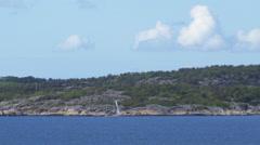 Small Sailboat Outside Gothenburg Stock Footage