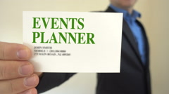 Event Planner Business Card Stock Footage