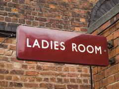 British Railways era ladies room sign Stock Photos