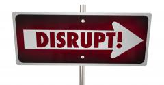Conform Vs Disrupt Road Street Signs Innovate Animation 4K - stock footage