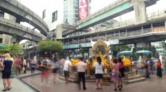 Erawan Hindu Shrine in Bangkok Stock Footage