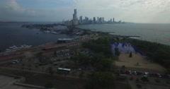 Pulling back over Cartagena Stock Footage