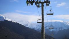 Chair Lift timelapse Stock Footage