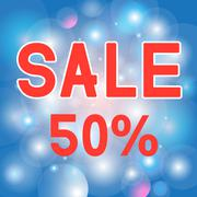 Discount of 50 Stock Illustration