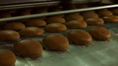 Bakers bake bread. Dark bread in the oven. Stock Footage
