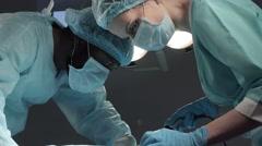 Surgery night operation process Stock Footage