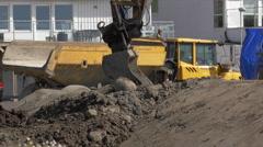 Excavator Bucket Rotation Stock Footage