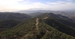 4K Aerial, Flying over a forest in Andalusia, Spain - stock footage