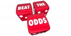Beat the Odds Gambling Game Chance Underdog 4K - stock footage
