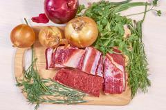 meat on roast - stock photo