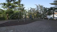 Playground in Parco della Rimembranza in Trieste Stock Footage