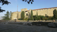 View of Castle of Saint Giusto in Trieste Stock Footage