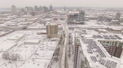 Nashville Snow- Slow move skyline in distance Stock Footage