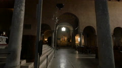 View inside Cattedrale San Giusto Martire in Trieste Stock Footage