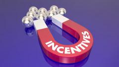 Incentives Draw Customers Magnet Animation Word - stock footage