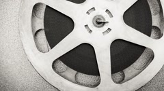 Cinema reel detail with filmstrip - stock footage