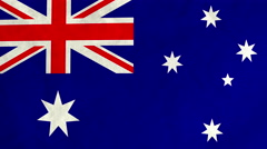 Australian flag waving in the wind (full frame footage) Stock Footage
