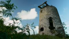 Sugar mill ruins in Antigua. Stock Footage