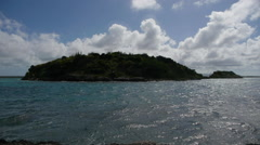Tiny islands south of Great Bird Island, Antigua. Stock Footage