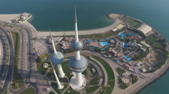 Top view of the Kuwaiti towers Stock Footage