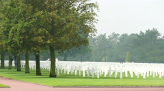 The Normandy Cemetery in France Stock Footage