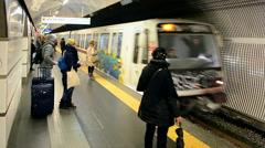 Rome Metro, Termini station in Rome, Italy. Stock Footage