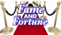 Fame and Fortune Red Carpet Celebrity Wealth Animated Words Stock Footage