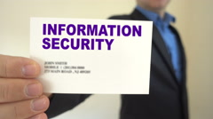 Information Security for hire Stock Footage