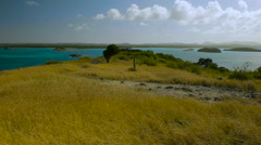 View from summit, Great Bird Island, Antigua. Stock Footage