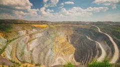 Large diamond mine (time-lapse) Stock Footage
