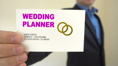 Wedding planner for hire Stock Footage