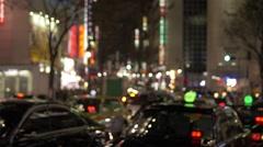 NIght traffic at Shibuya crossing - stock footage