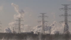 Steaming lake Ontario during severe cold winter day Stock Footage
