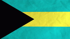 Bahamian flag waving in the wind (full frame footage) Stock Footage