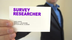 Survey researcher for hire Stock Footage