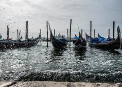 Gondola at Venezia - stock photo